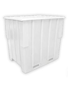 "Bayhead Large Capacity Nestable Pallet Container 57"" x 41"" x 53"" White"
