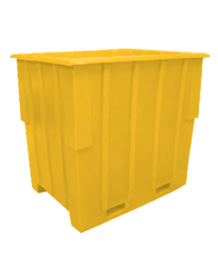 "Bayhead Large Capacity Nestable Pallet Container 57"" x 41"" x 53"" Yellow"