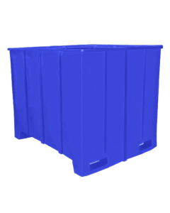 "Bayhead Large Capacity Pallet Container 63"" x 50"" x 49"" Blue"