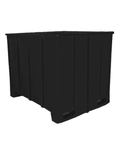 "Bayhead Large Capacity Pallet Container 63"" x 50"" x 49"" Black"