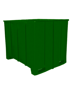 "Bayhead Large Capacity Pallet Container 63"" x 50"" x 49"" Green"