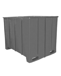"Bayhead Large Capacity Pallet Container 63"" x 50"" x 49"" Gray"