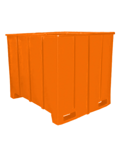 "Bayhead Large Capacity Pallet Container 63"" x 50"" x 49"" Orange"