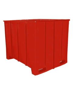 "Bayhead Large Capacity Pallet Container 63"" x 50"" x 49"" Red"