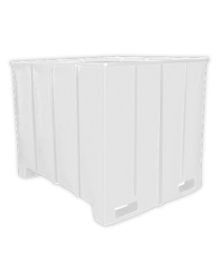 "Bayhead Large Capacity Pallet Container 63"" x 50"" x 49"" White"