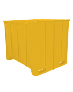"Bayhead Large Capacity Pallet Container 63"" x 50"" x 49"" Yellow"