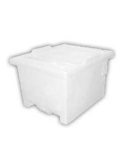 "Bayhead Nesting Pallet Container 50"" x 40"" x 33"" White"