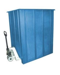 "Bayhead Unique Style Pallet Container 60"" x 46"" x 72"" Blue"