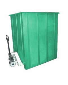 "Bayhead Unique Style Pallet Container 60"" x 46"" x 72"" Green"