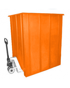"Bayhead Unique Style Pallet Container 60"" x 46"" x 72"" Orange"