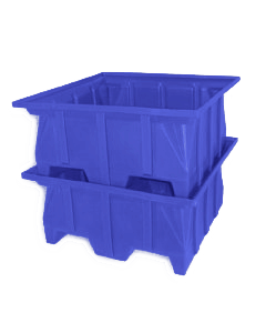 "Bayhead Stacking Pallet Container 40"" x 39"" x 20"" Blue"