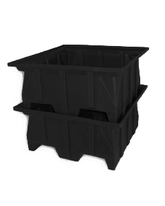 "Bayhead Stacking Pallet Container 40"" x 39"" x 20"" Black"