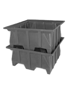 "Bayhead Stacking Pallet Container 40"" x 40"" x 30"" Gray"