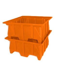 "Bayhead Stacking Pallet Container 40"" x 39"" x 20"" Orange"