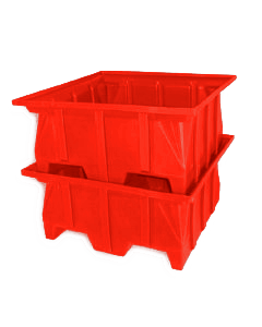 "Bayhead Stacking Pallet Container 40"" x 39"" x 20"" Red"