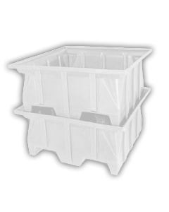 "Bayhead Stacking Pallet Container 40"" x 39"" x 20"" White"