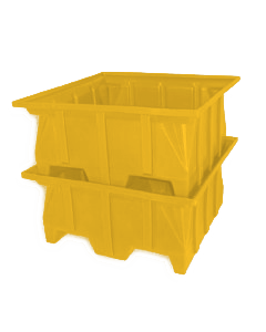 "Bayhead Stacking Pallet Container 40"" x 39"" x 20"" Yellow"
