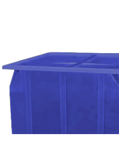 "Bayhead Plastic Lid 42.5"" x 42.5"" x 2.5"" for BY-SKA-1 and BY-SKA-2 Stacking Pallet Containers Blue"