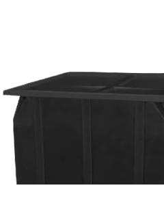 "Bayhead Plastic Lid 42.5"" x 42.5"" x 2.5"" for BY-SKA-1 and BY-SKA-2 Stacking Pallet Containers Black"