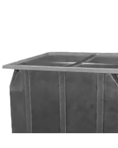 """Bayhead Plastic Lid 42.5"""" x 42.5"""" x 2.5"""" for BY-SKA-1 and BY-SKA-2 Stacking Pallet Containers Gray"""