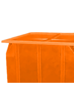 "Bayhead Plastic Lid 42.5"" x 42.5"" x 2.5"" for BY-SKA-1 and BY-SKA-2 Stacking Pallet Containers Orange"