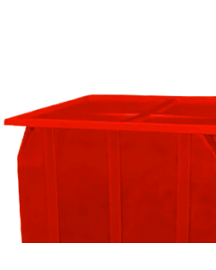 "Bayhead Plastic Lid 42.5"" x 42.5"" x 2.5"" for BY-SKA-1 and BY-SKA-2 Stacking Pallet Containers Red"