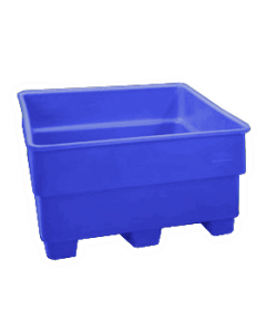 "Bayhead Nesting Pallet Container 43"" x 43"" x 33"" Blue"