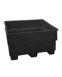 "Bayhead Nesting Pallet Container 43"" x 43"" x 33"" Black"