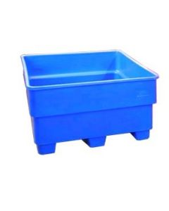 "Bayhead Nesting Pallet Container 43"" x 43"" x 24"" Blue"
