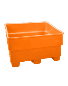 "Bayhead Nesting Pallet Container 43"" x 43"" x 33"" Orange"