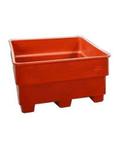 "Bayhead Nesting Pallet Container 43"" x 43"" x 24""  Red"