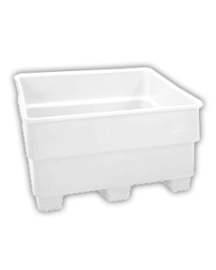 "Bayhead Nesting Pallet Container 43"" x 43"" x 44"" White"