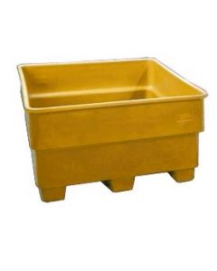 "Bayhead Nesting Pallet Container 43"" x 43"" x 24""  Yellow"