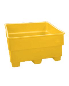 "Bayhead Nesting Pallet Container 43"" x 43"" x 33"" Yellow"
