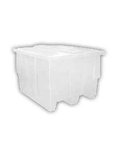 """Bayhead Nesting Pallet Container 50"""" x 42"""" x 33"""" White"""