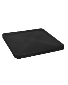 "Bayhead Plastic Lid 45"" x 45"" x 3"" for BY-SNP-24, BY-SNP-33 and BY-SNP-44  Nesting Pallet Containers 43"" x 43"" Black"
