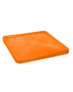 "Bayhead Plastic Lid 45"" x 45"" x 3"" for BY-SNP-24, BY-SNP-33 and BY-SNP-44  Nesting Pallet Containers 43"" x 43"" Orange"
