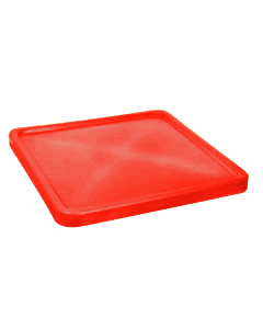 "Bayhead Plastic Lid 45"" x 45"" x 3"" for BY-SNP-24, BY-SNP-33 and BY-SNP-44  Nesting Pallet Containers 43"" x 43"" Red"