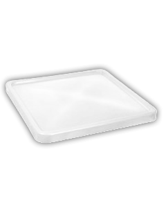"Bayhead Plastic Lid 45"" x 45"" x 3"" for BY-SNP-24, BY-SNP-33 and BY-SNP-44  Nesting Pallet Containers 43"" x 43"" White"