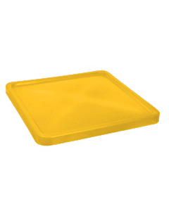 "Bayhead Plastic Lid 45"" x 45"" x 3"" for BY-SNP-24, BY-SNP-33 and BY-SNP-44  Nesting Pallet Containers 43"" x 43"" Yellow"