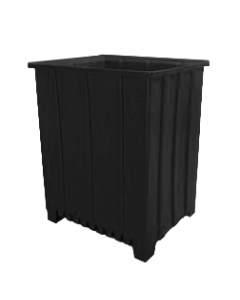 "Bayhead Tall Pallet Container 48"" x 41"" x 59""  Black"