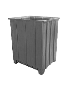 "Bayhead Tall Pallet Container 48"" x 41"" x 59"" Gray"