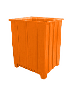 "Bayhead Tall Pallet Container 48"" x 41"" x 59""  Orange"