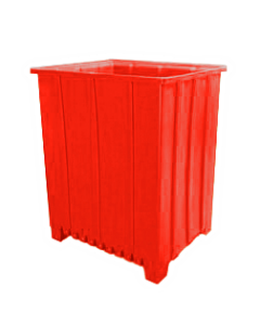"Bayhead Tall Pallet Container 48"" x 41"" x 59""  Red"
