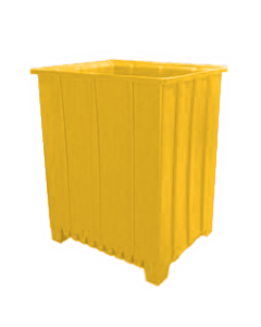 "Bayhead Tall Pallet Container 48"" x 41"" x 59""  Yellow"