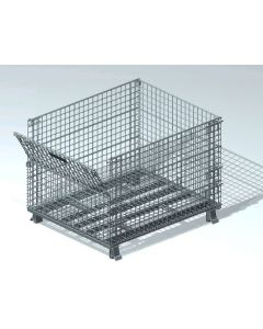 "Nashville Wire 40"" x 48"" x 30"" Stackable Collapsible End Load Container"