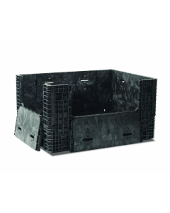 """Extended Length Bulk Container 64"""" x 48"""" x 34"""", Vented Deck, Doors on 4 Sides"""