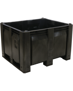 "Decade MACX 40"" x 48"" x 31"" Fixed Wall Bulk Container - Black"