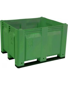 "Decade MACX 40"" x 48"" x 31"" Fixed Wall Bulk Container with Longside Runners - Green"