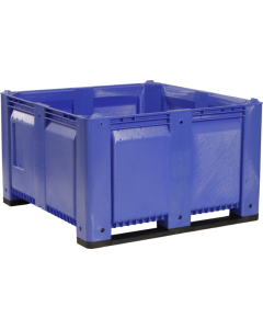 "Decade MACX 48"" x 48"" x 31"" Fixed Wall Bulk Container - Blue"